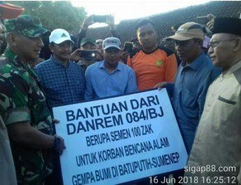 Musibah gempa bumi menimpa Kecamatan Batu putih dan Kecamatan Dasuk Kabupaten Sumenep.