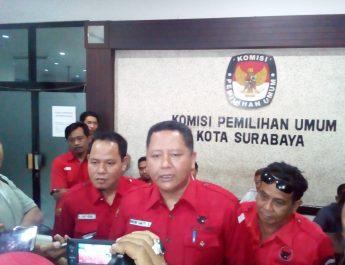 Jelang Deadline, PDI Perjuangan Kota Surabaya Daftarkan Bacaleg Ke KPU