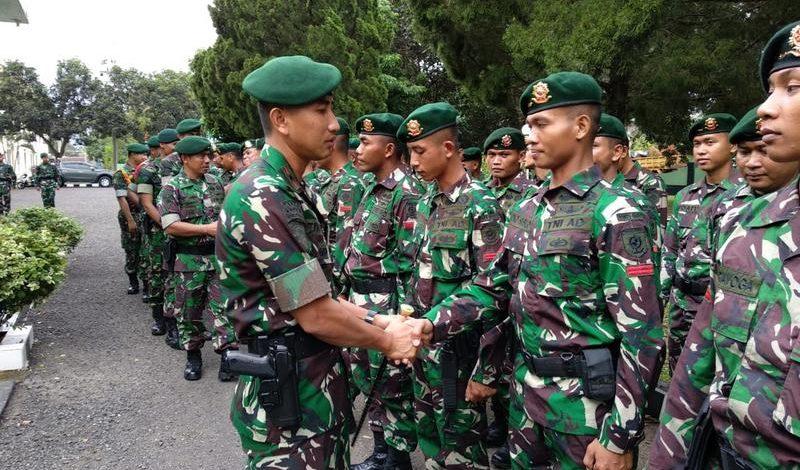 Tradisi Pemberangkatan Peleton Beranting Yonif Raider 515 Kostrad
