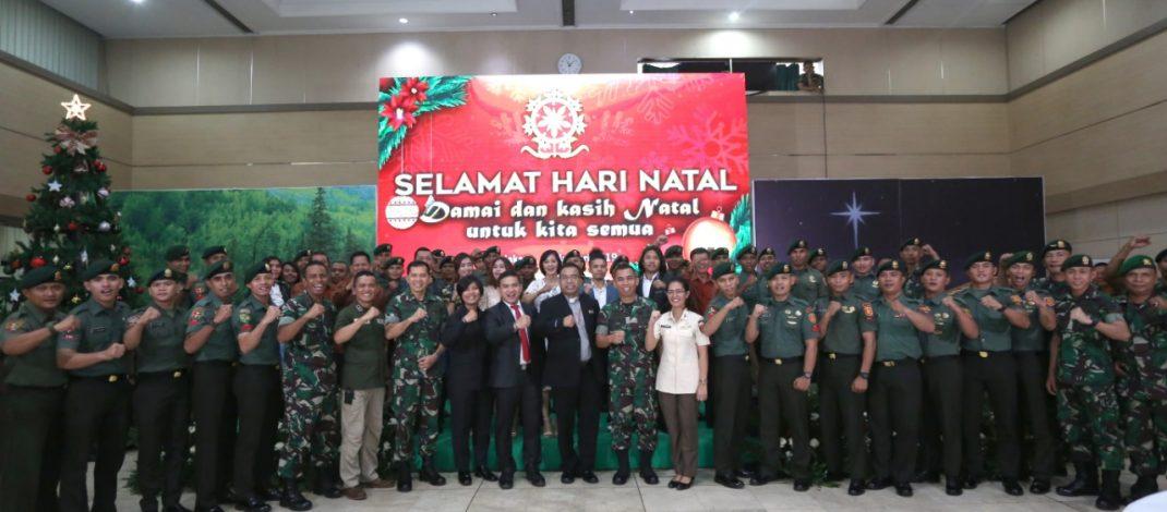 Perayaan Natal Bersama Umat Nasrani Satjar Kostrad Se-Jabodetabek