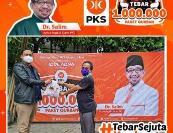 Ditandai Pemotongan Sapi Limosin berbobot 700kg, PKS Kota Surabaya turut Mensukseskan Program Tebar 1.000.000 Paket Kurban