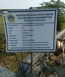 Diduga Pembangunan TPT JPD Desa Setrohadi, Proyek BK Gunakan Campuran Pasangan Batu