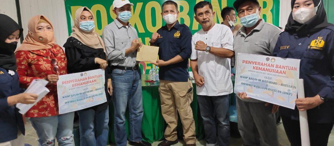 KSOP Kelas III Kotabaru-Batulicin Serahkan Bantuan Kepada Korban Banjir Satui